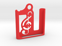 iPod Nano 6th gen.   Keychain Case in Red Strong & Flexible Polished