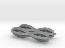 Sharp Earrings in Polished Metallic Plastic