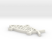 Shapeways Image Popper in White Strong & Flexible