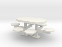 scale 1:24 Picnic Table in White Strong & Flexible