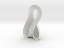 Left-Hand Half Klein Bottle 9.85 in tall in White Strong & Flexible