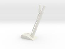 quarter scale aec handbrake lever in White Strong & Flexible