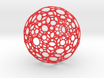 Hollow Sphere in Red Strong & Flexible Polished