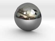 Half Sphere Pendant in Premium Silver