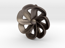 pendant flower 2 (7 petals) in Stainless Steel