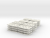 TA 4S avio parts 002 A1 16pcs in White Strong & Flexible