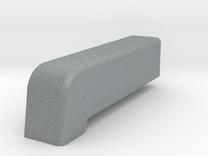 Malice fin insert in Polished Metallic Plastic