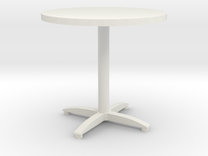 round bistro table in White Strong & Flexible