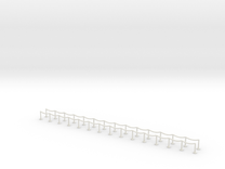 US109 - Red Carpet Rope Fences (H0) in White Strong & Flexible
