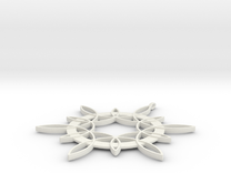 Double Hexafoil Pendant in White Strong & Flexible