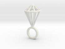 "Hexa Diamond size M (6 1/4"") in White Strong & Flexible"