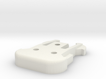 GoPro Iso Mount Male in White Strong & Flexible