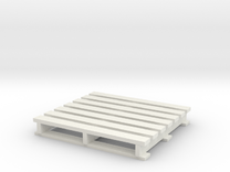 Pallet coaster in White Strong & Flexible