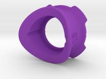 3D Printed Quad Lock Bike Mount Collars in Purple Processed Versatile Plastic