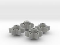 4x 6-Tooth High Strength Sprocket in Metallic Plastic