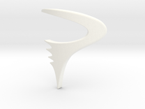 Logo Pinarello  - height 50mm in White Strong & Flexible Polished