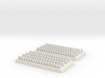 2mm DBA Bows 40x20mm base in White Strong & Flexible