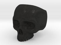 Skull Ring - Size 10 (inner diameter = 19.76 mm) in Black Acrylic