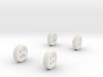 1/32 Scale Wheels, Tool Box in White Strong & Flexible