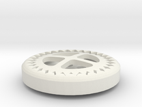 Gear Button in White Strong & Flexible