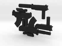 8 inch Dunny Gun Weapons  in Black Strong & Flexible