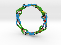 Mobius Strip with Crash Test Dummies Mashup in Full Color Sandstone