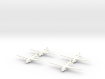 A-7 Russian Glider 1/600 (X4) in White Strong & Flexible Polished