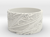 Fibres Ring Size 10 in White Strong & Flexible