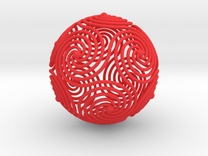 Spiraling Icosahedron in Red Strong & Flexible Polished
