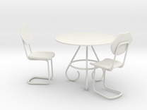 Coffee Table With Chairs for Toys in White Strong & Flexible