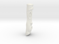 Wood Grain Tiki Pendant in White Strong & Flexible