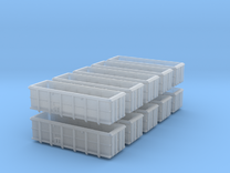 PO-016p-v Scrap Wagon Bundle for Peco Chassis. in Frosted Ultra Detail