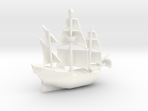 Galleon Revised (Oct 25) in White Strong & Flexible Polished