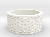 """""""Eternal Triquetra"""" Ring Size 8 in White Strong & Flexible Polished"""