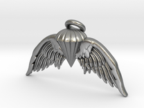 Navy Jump Angel Wings in Raw Silver