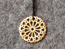 Religion Rose Pendant in Polished Brass