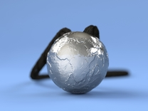 Earth Without Water (Pendant 20mm) in Stainless Steel