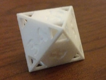 "Fibonacci ""Doubling"" Octahedron in White Strong & Flexible"