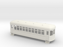 HO Gauge  short trolley car in White Strong & Flexible