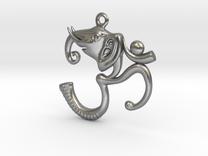 Ganesh Pendant in Raw Silver