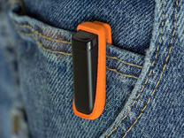 Pocket Clip for Fitbit Flex in Orange Strong & Flexible Polished