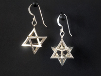 Star Tetrahedron earrings #Silver in Premium Silver