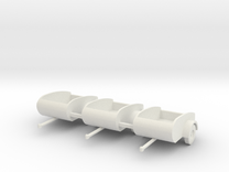 Tear Drop trailers HO scale X3 in SWF in White Strong & Flexible