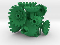 Green Gears & Tiles for the Multi-Gear Cube Kit in Green Strong & Flexible Polished