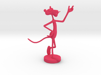 Pink Panther Figurine in Pink Strong & Flexible Polished