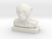 Monkey Bust in White Strong & Flexible