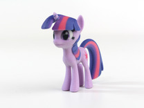 My Little Pony - Twilight (≈65mm tall) in Full Color Sandstone