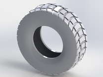 85mm Diameter Chunky Tyre in White Strong & Flexible
