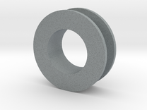 Ear Plug (14mm, single) in Polished Metallic Plastic