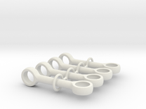 Pushrod 4m 90 Degrees Set in White Strong & Flexible
